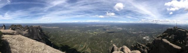 Pohled z vrcholu Montserrat