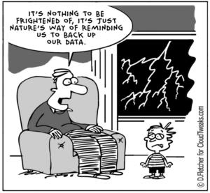 joke about the need to backup data