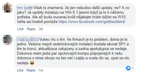 FB komentáře k aktualizacím