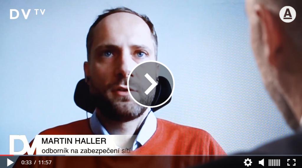 Martin Haller v pořadu DVTV