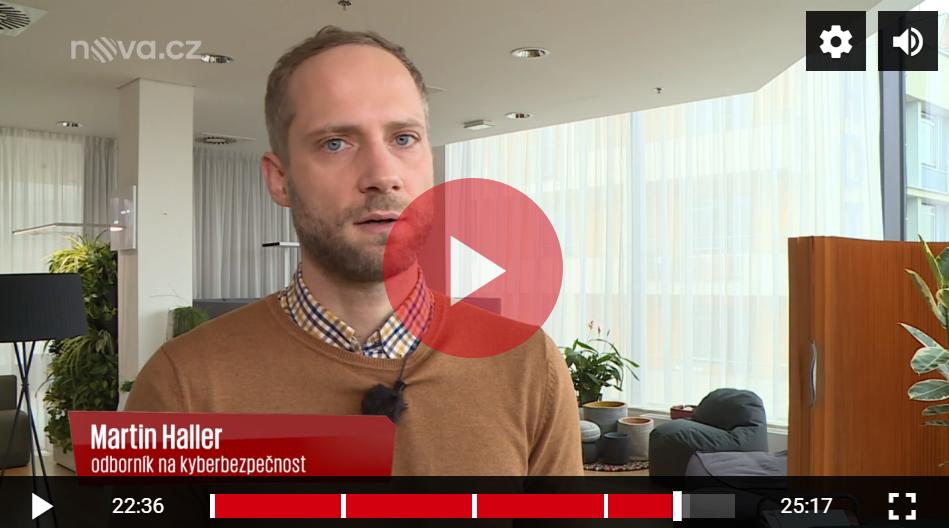 Martin Haller v pořadu Střepiny TV Nova
