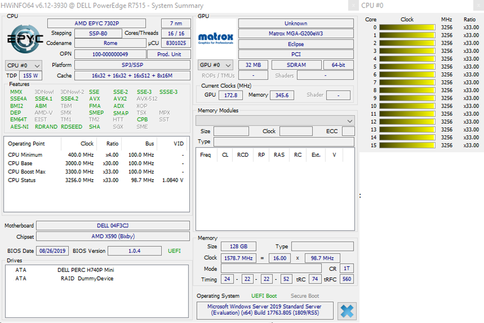 Parametry CPU a RAM